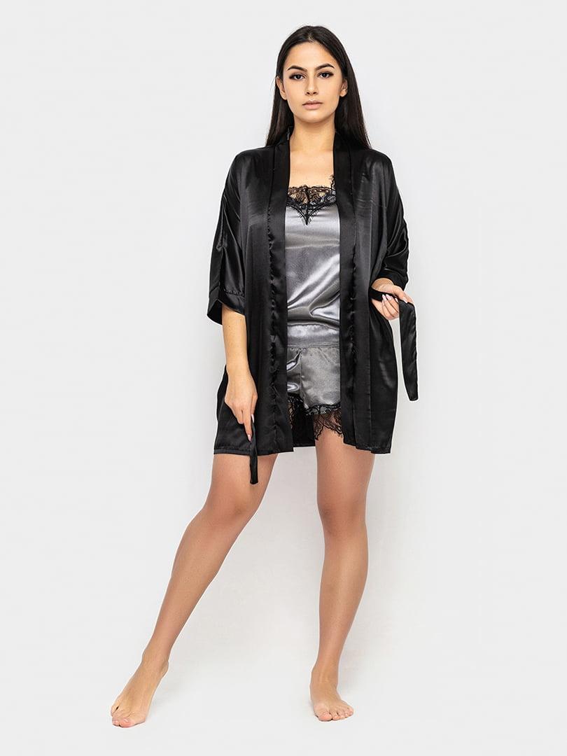 Піжама: халат, майка і шорти | 5386148