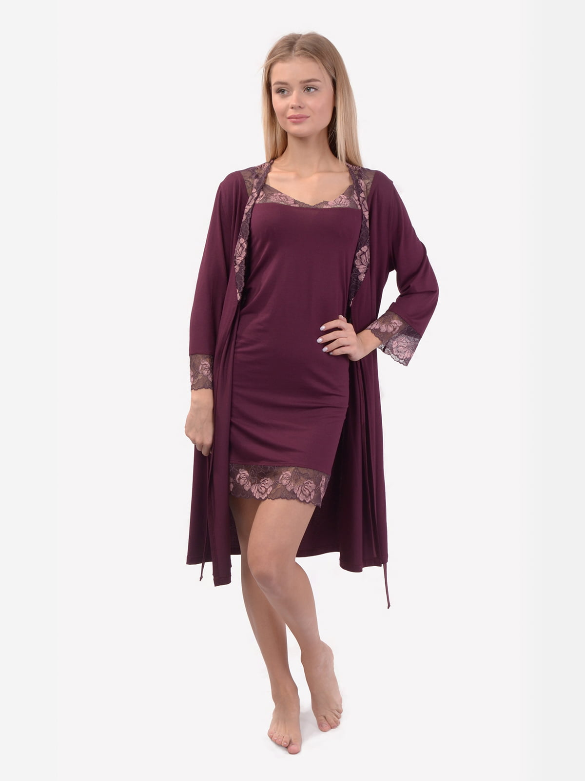 Комплект: халат і нічна сорочка | 5387403