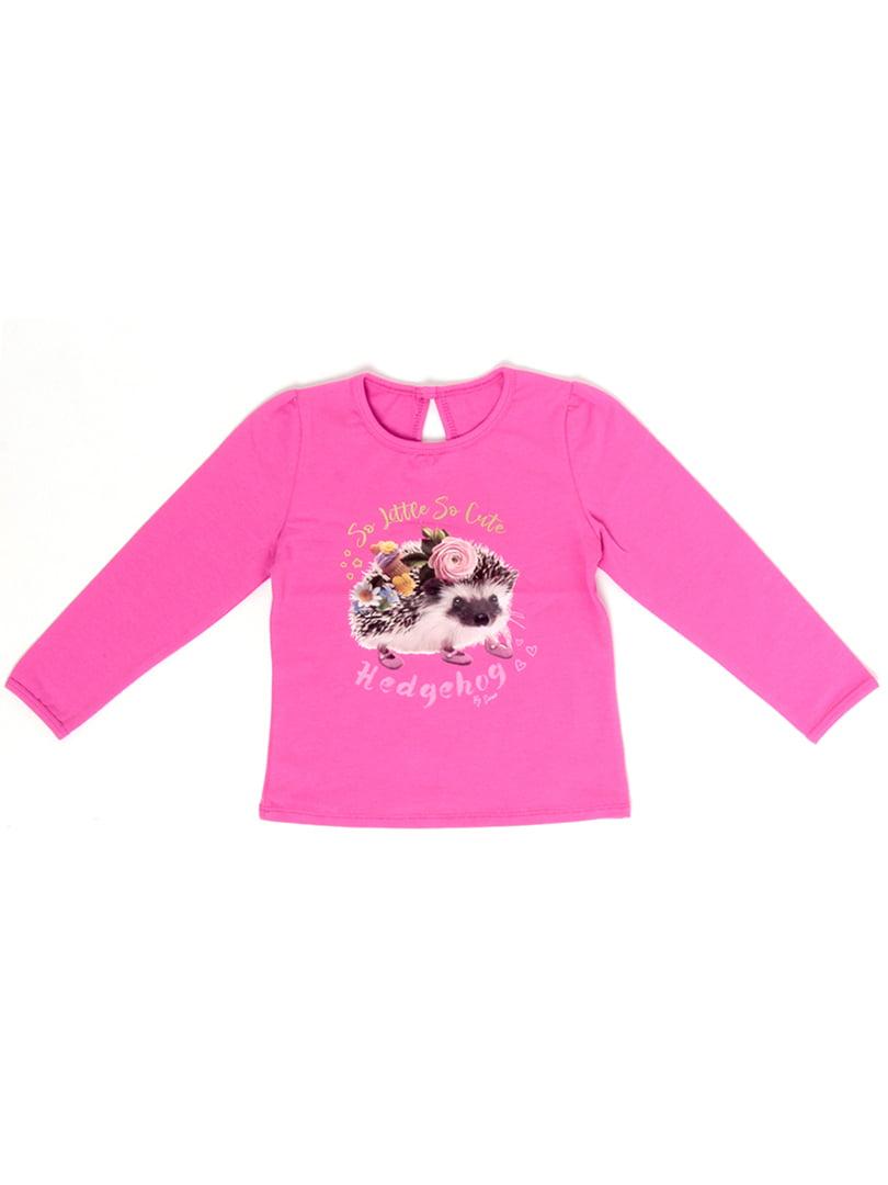 Джемпер розовый с принтом   5387695