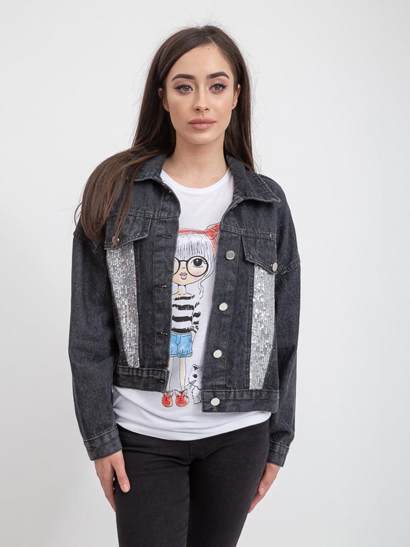 Куртка джинсовая черная | 5393462