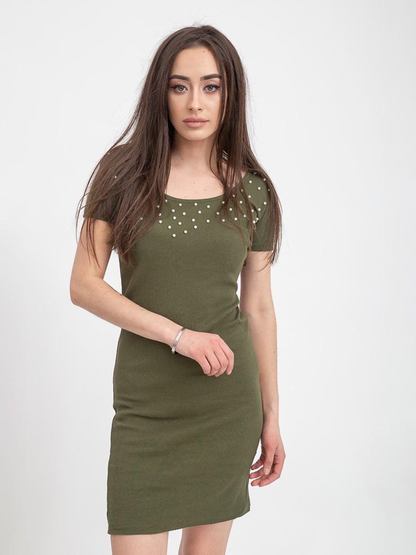 Платье цвета хаки | 5393517