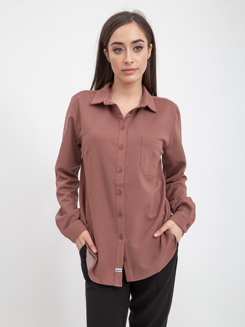 Рубашка фрезового цвета   5393534