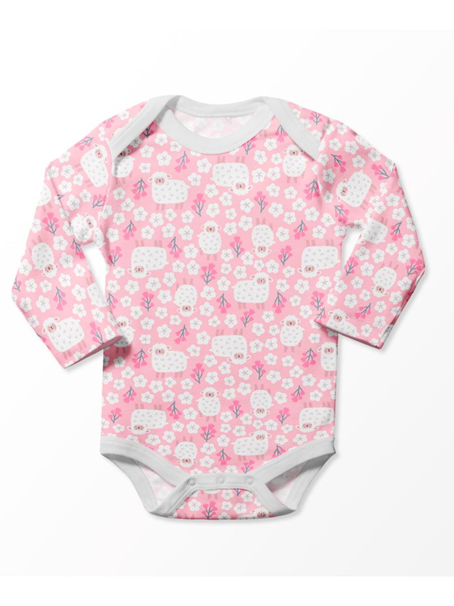 Боді рожеве з принтом | 5394103