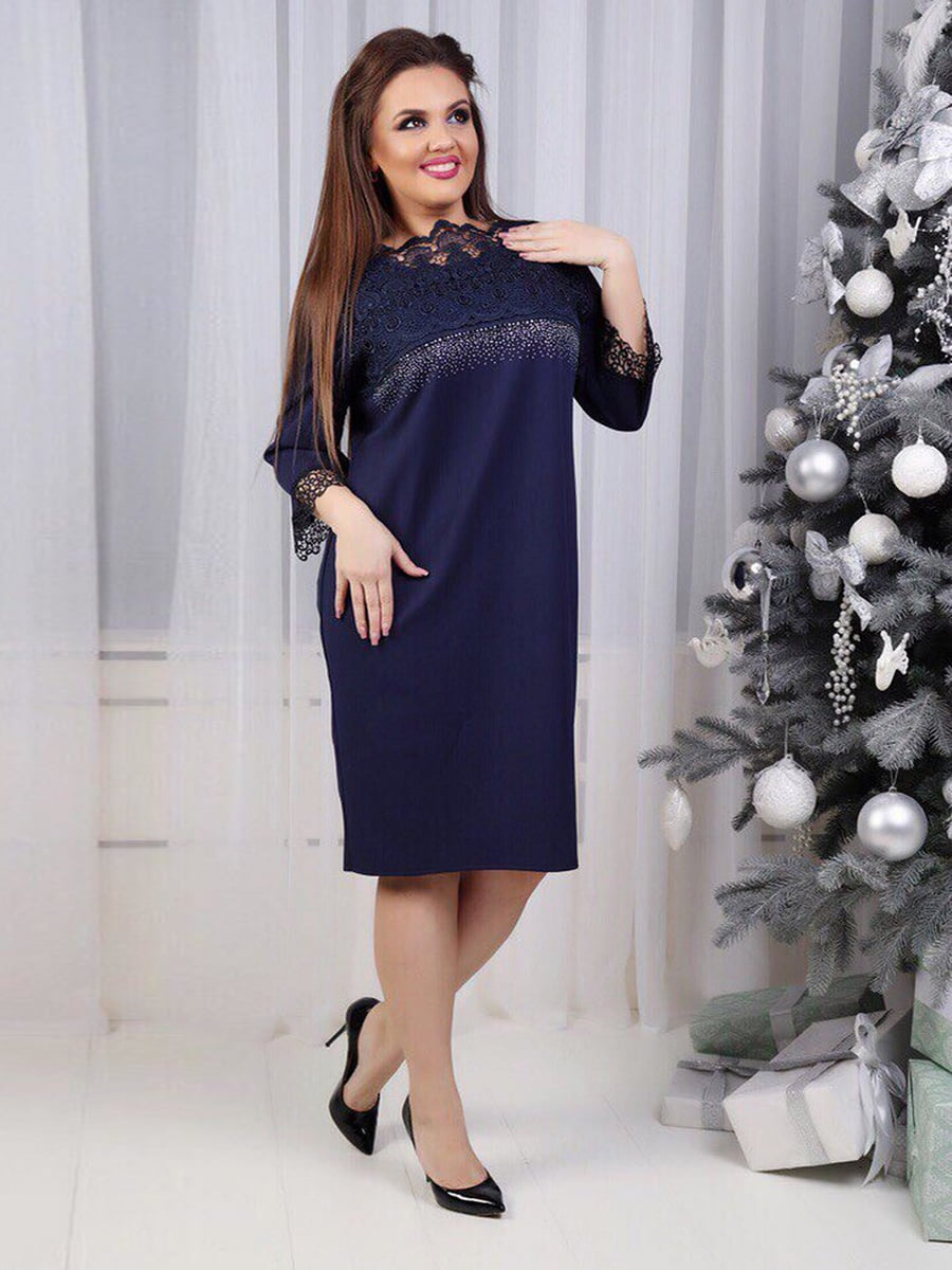 Сукня синя з декором   5394947
