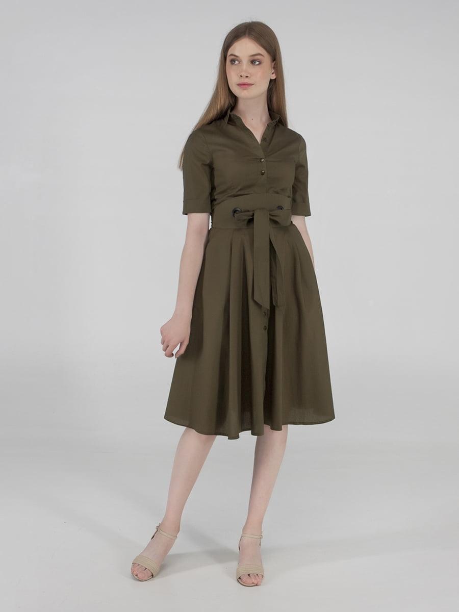 Сукня кольору хакі | 5398979