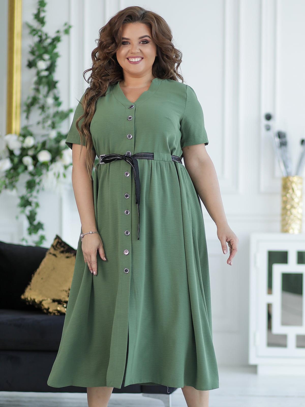 Платье оливкового цвета   5401011