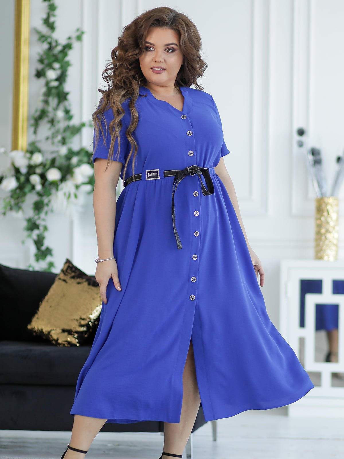 Сукня кольору електрик | 5401013