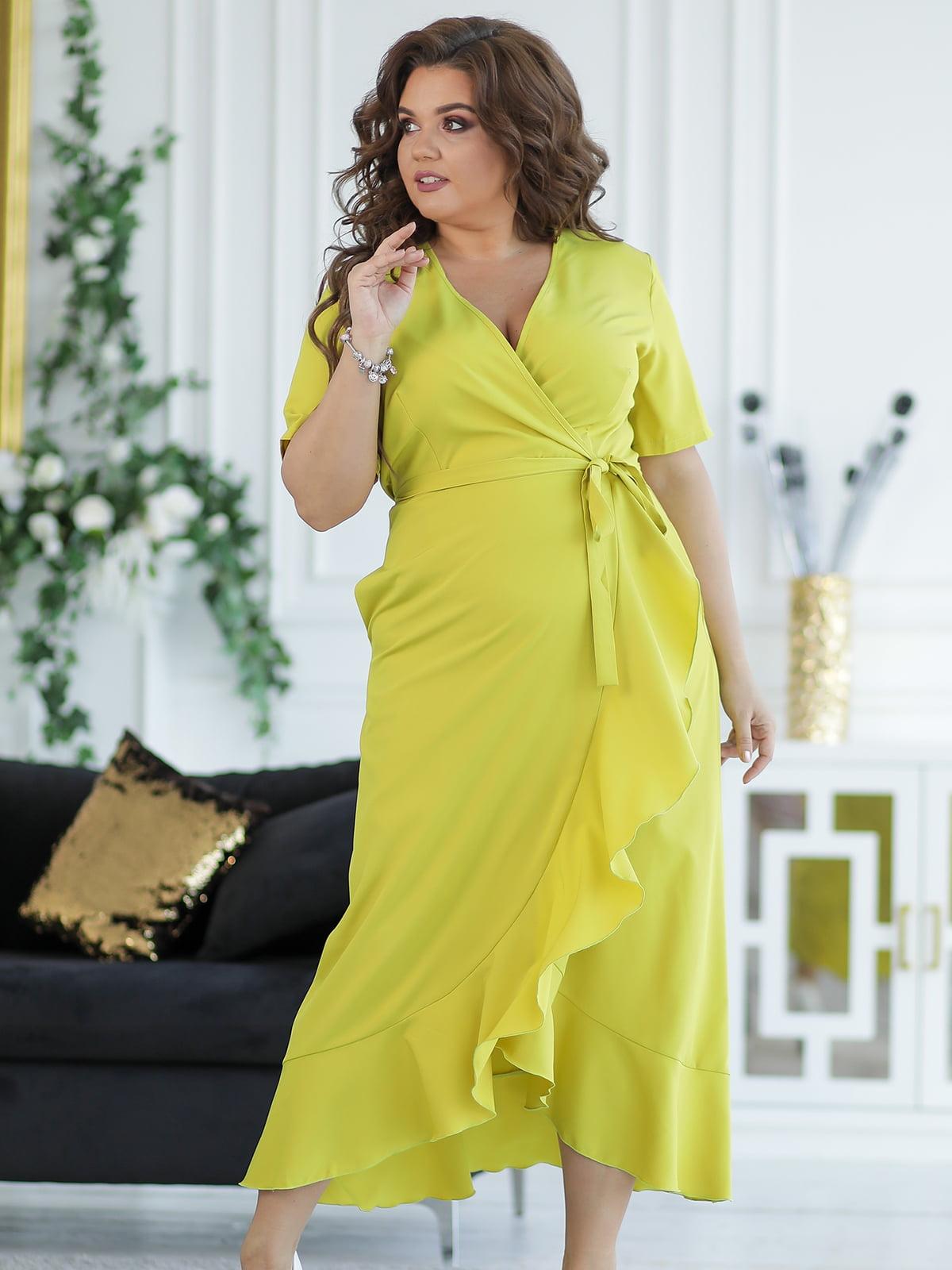 Платье цвета лайма   5401014