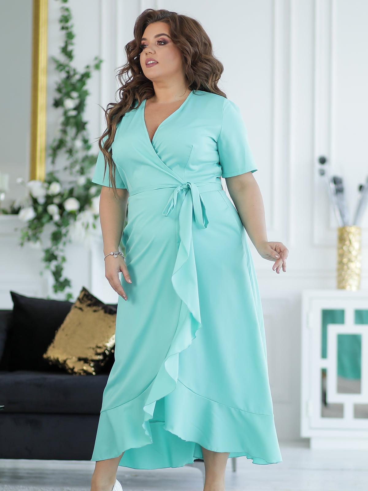 Платье мятного цвета | 5401015