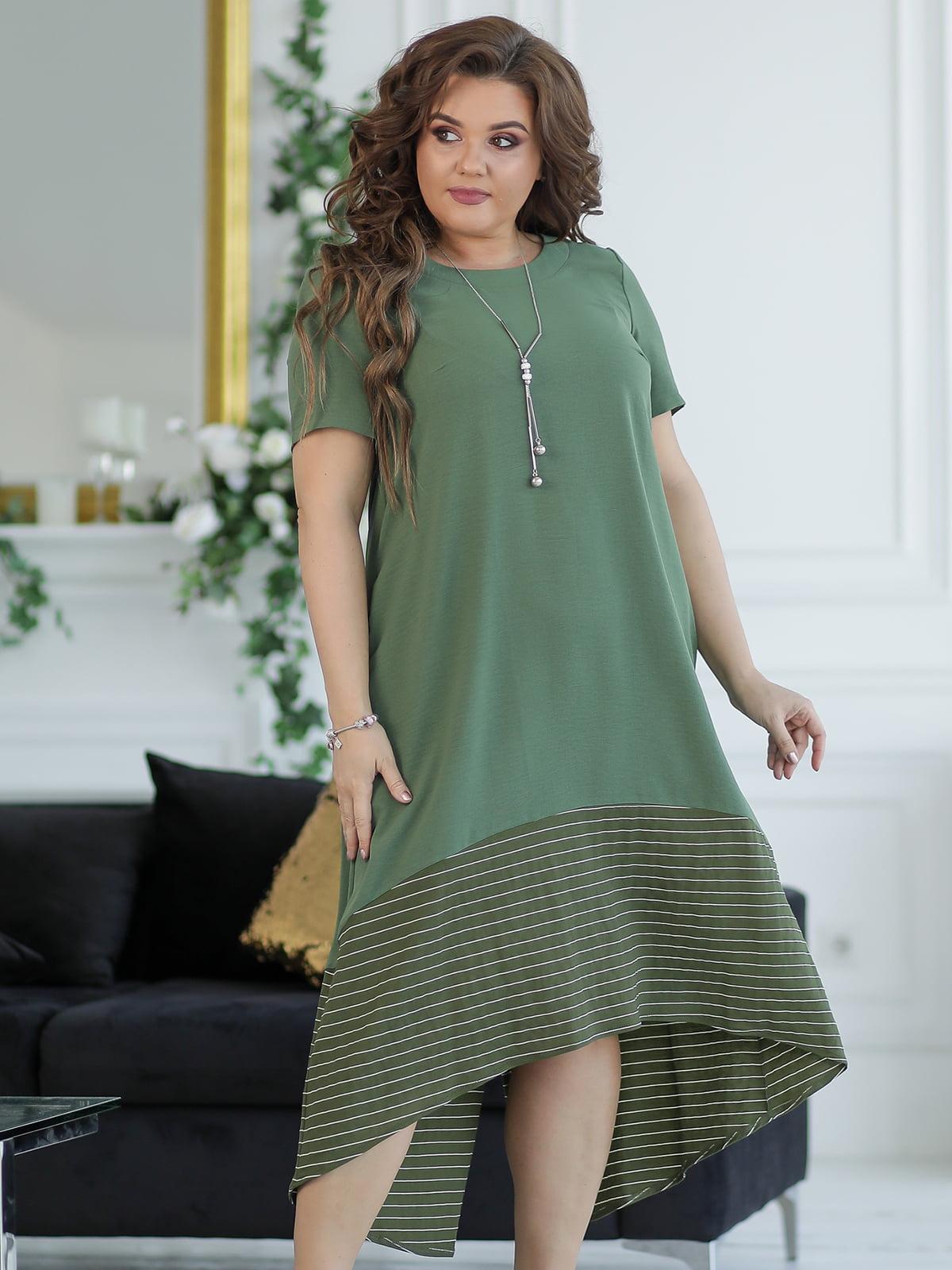 Сукня кольору хакі | 5401020