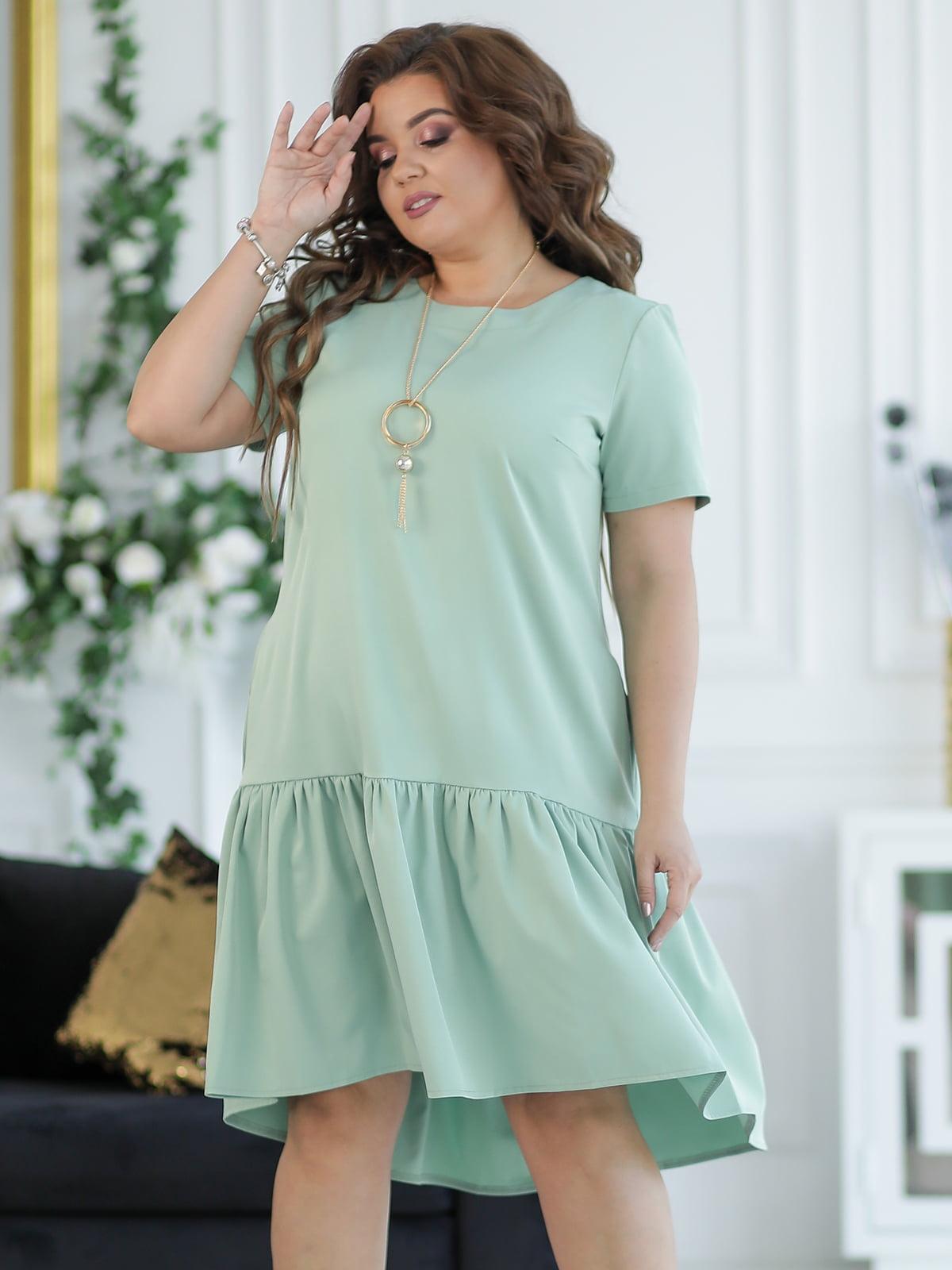 Платье оливкового цвета | 5401025