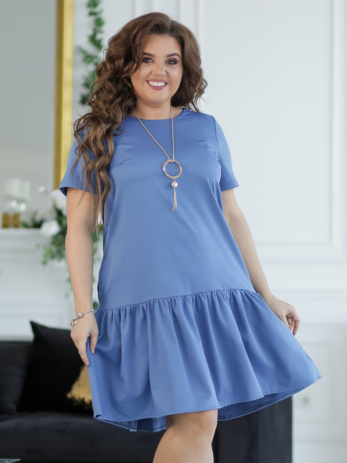Платье синее   5401027