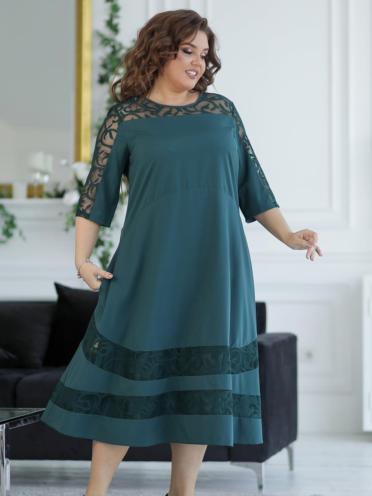 Платье изумрудного цвета | 5401033