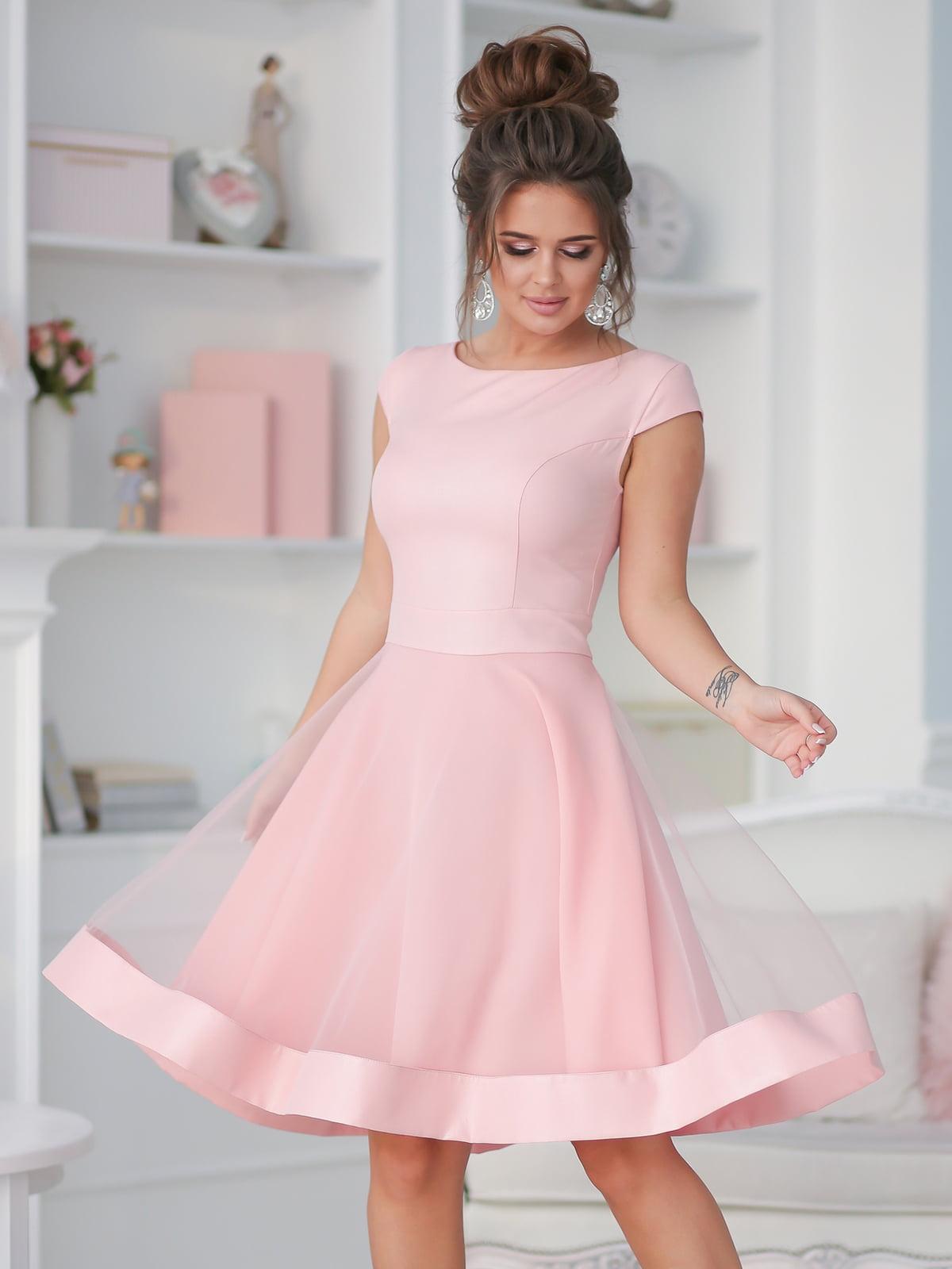 Платье цвета пудры | 5401049