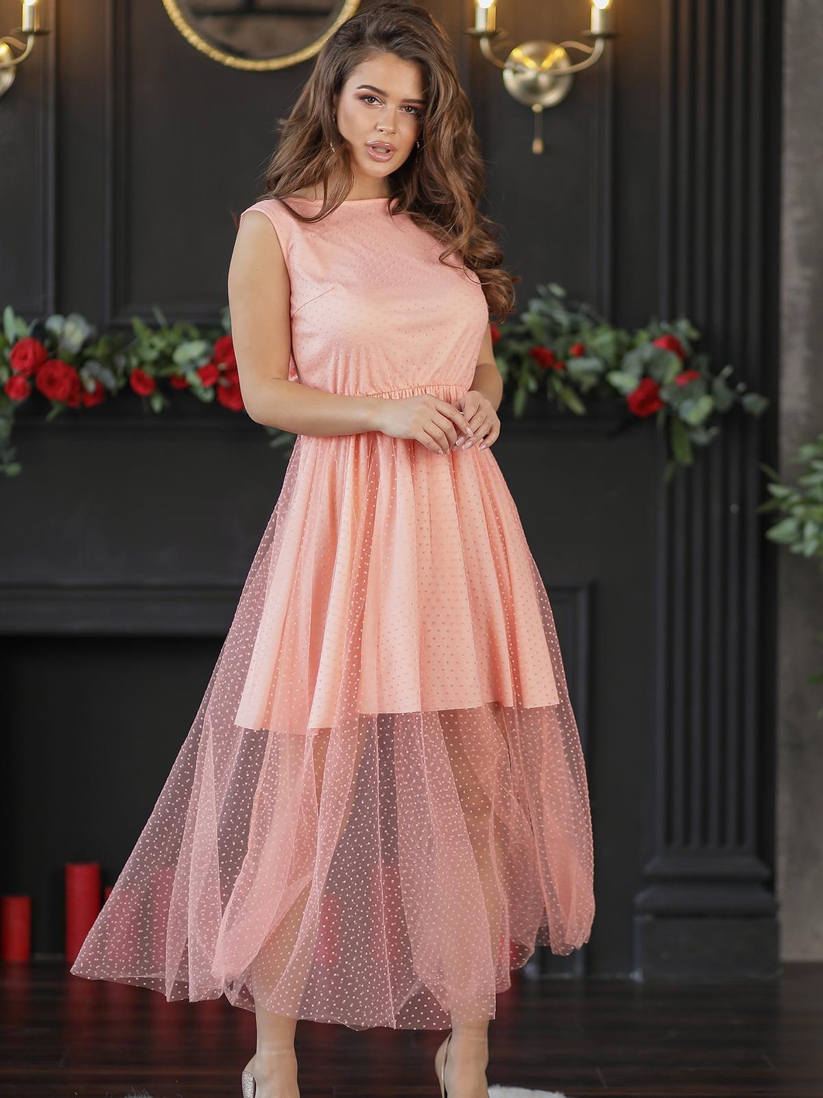 Платье цвета пудры | 5401089