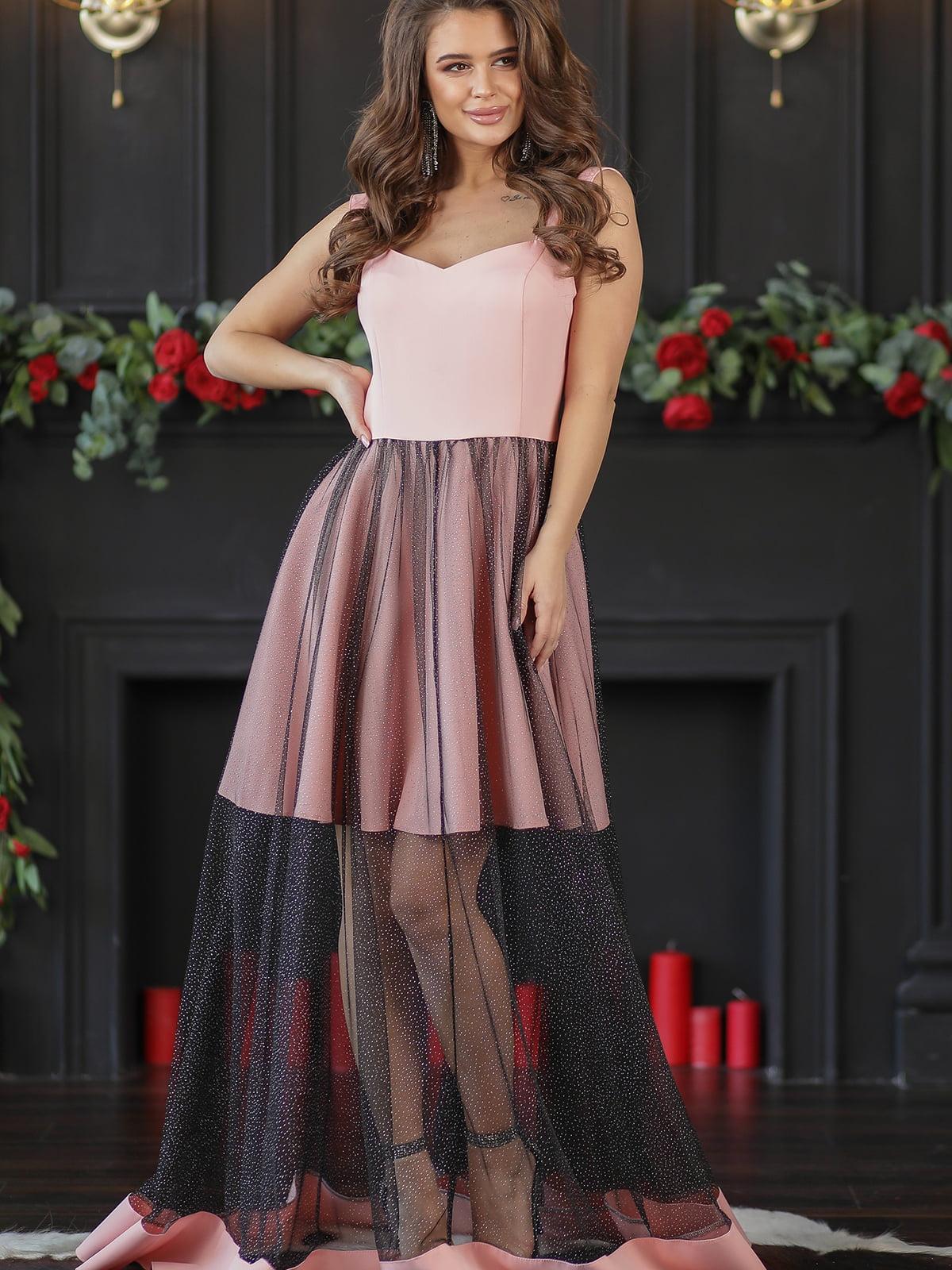 Платье цвета пудры | 5401095