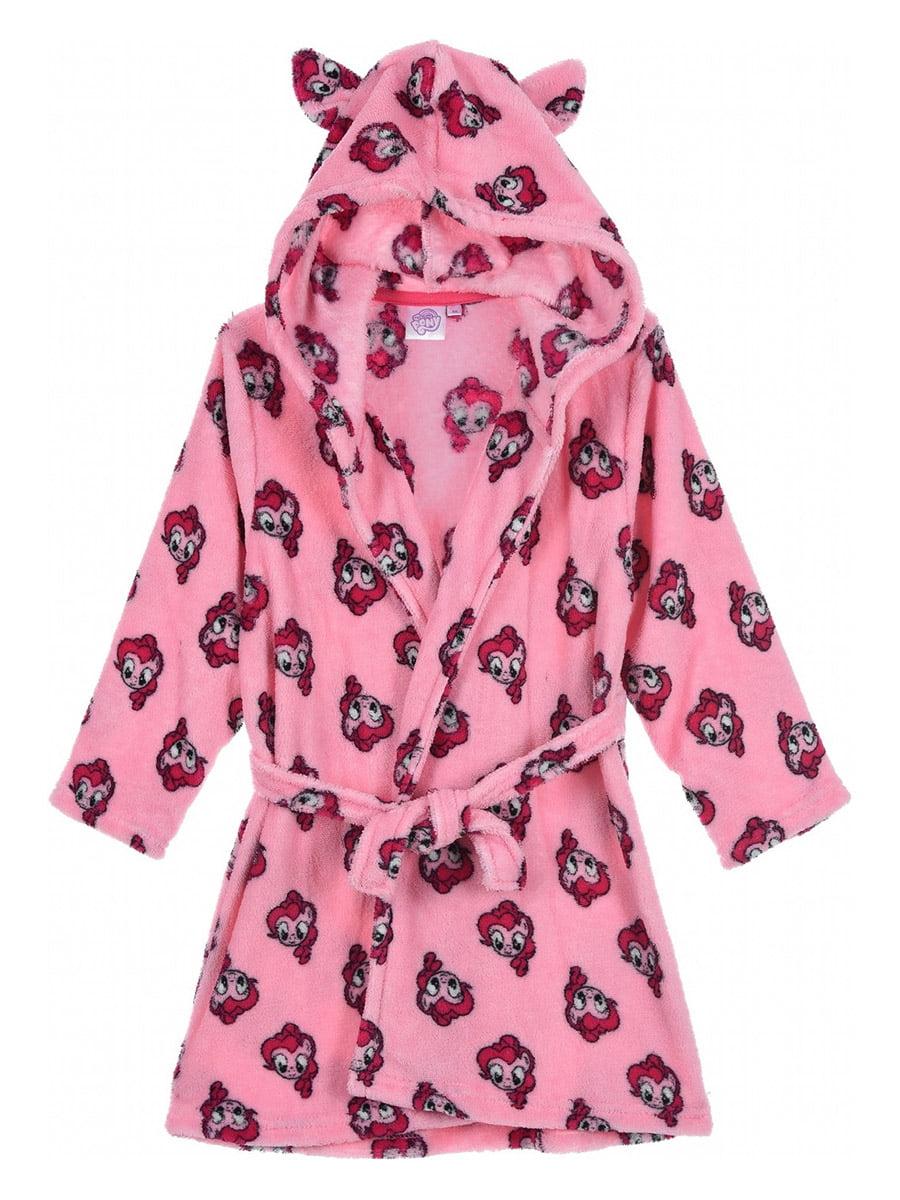Халат рожевий з принтом | 5401663