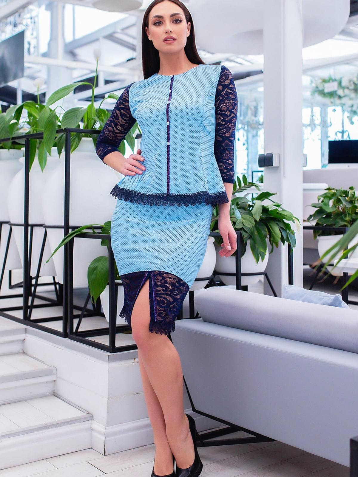 Костюм: блуза і спідниця   5379681