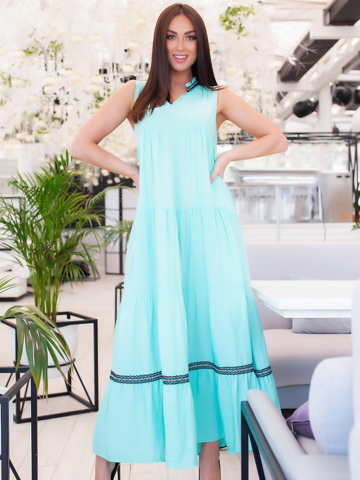 Платье мятного цвета | 5379705