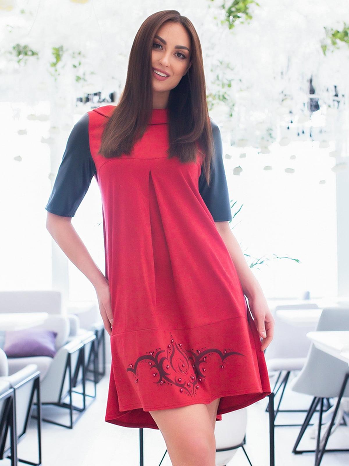Платье красно-черное | 5379745
