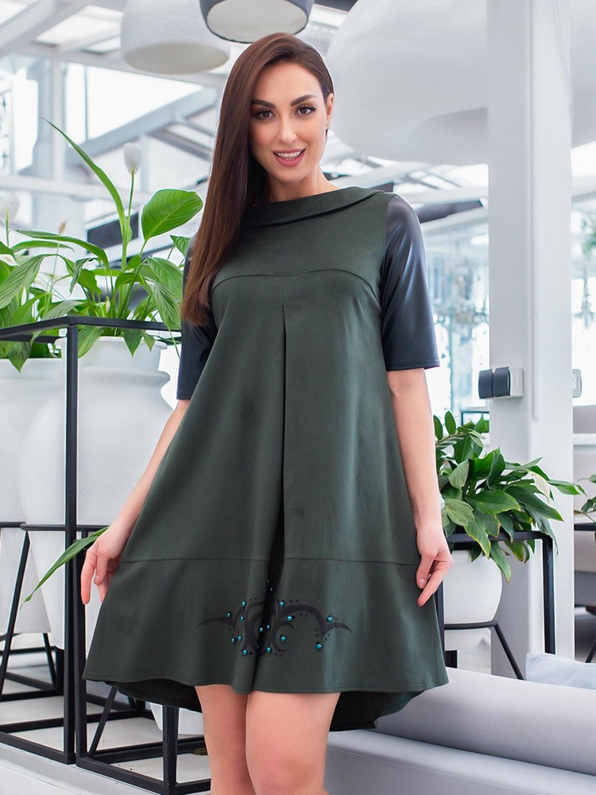 Сукня зелено-чорна | 5379746