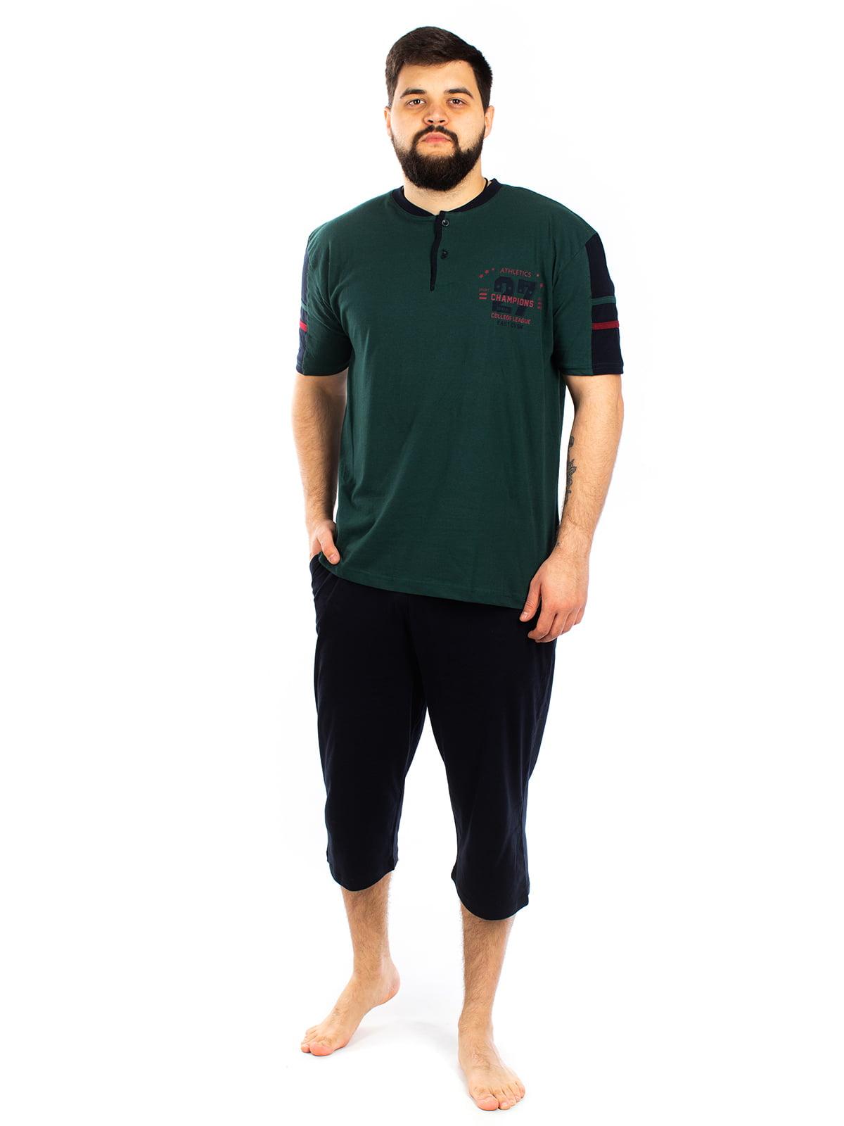 Пижама: футболка и капри | 5402070