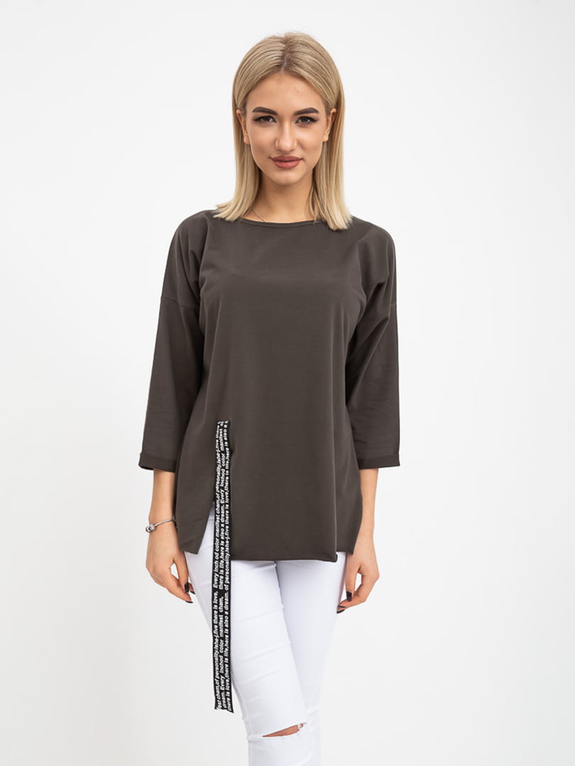 Блуза грифельного цвета | 5415760