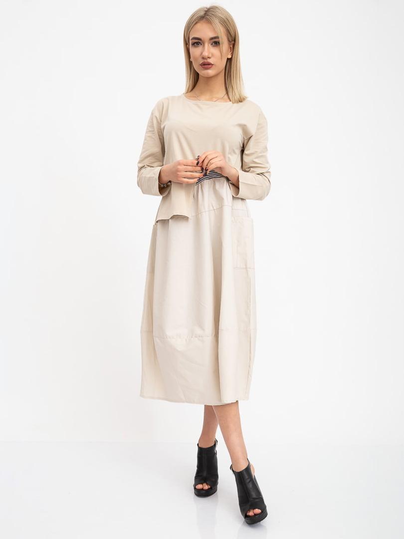 Платье бежевое | 5416018
