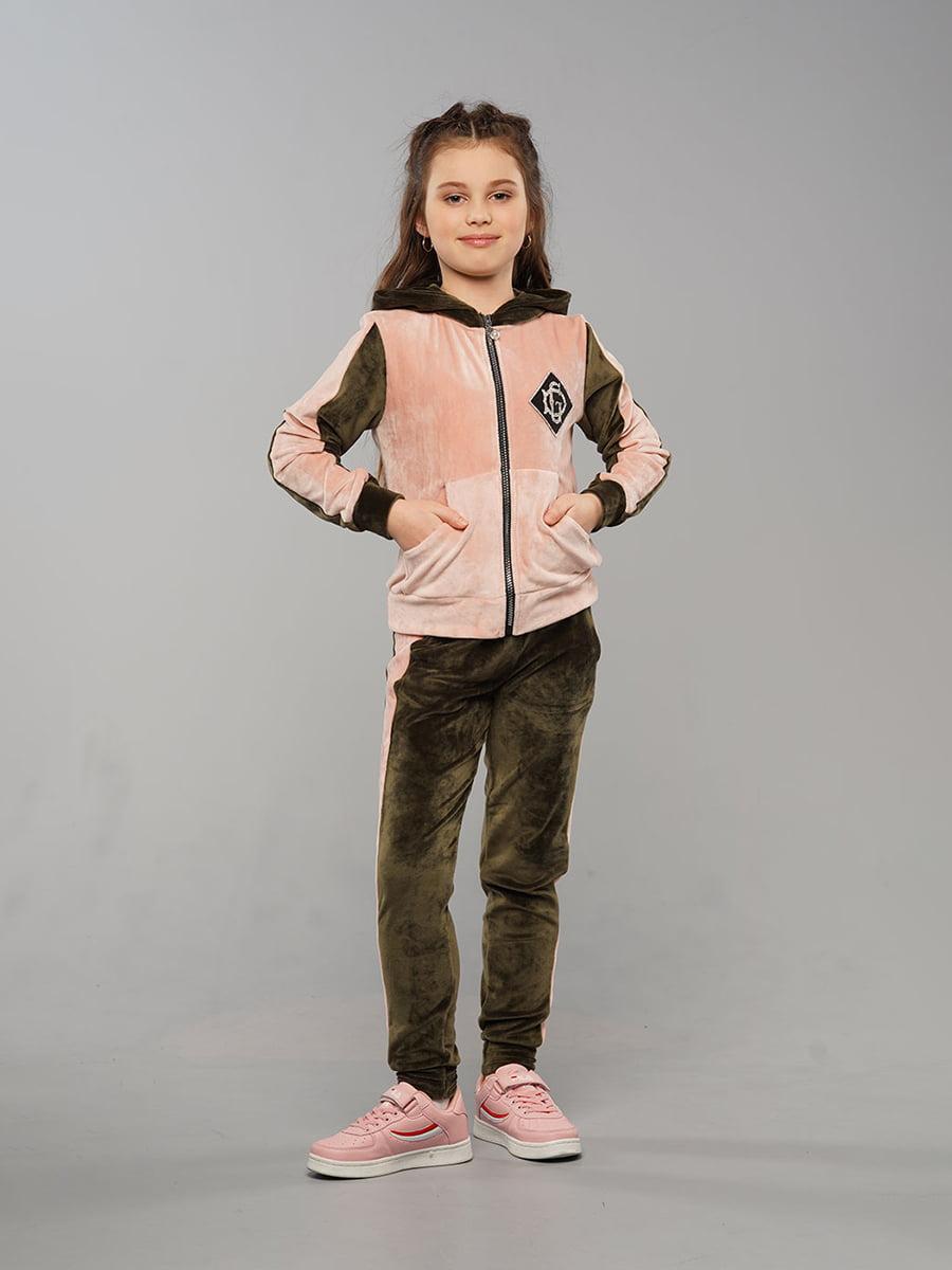 Костюм спортивний велюровий: толстовка і штани | 5417329