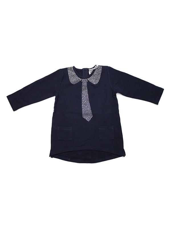 Джемпер синій з принтом | 4231870