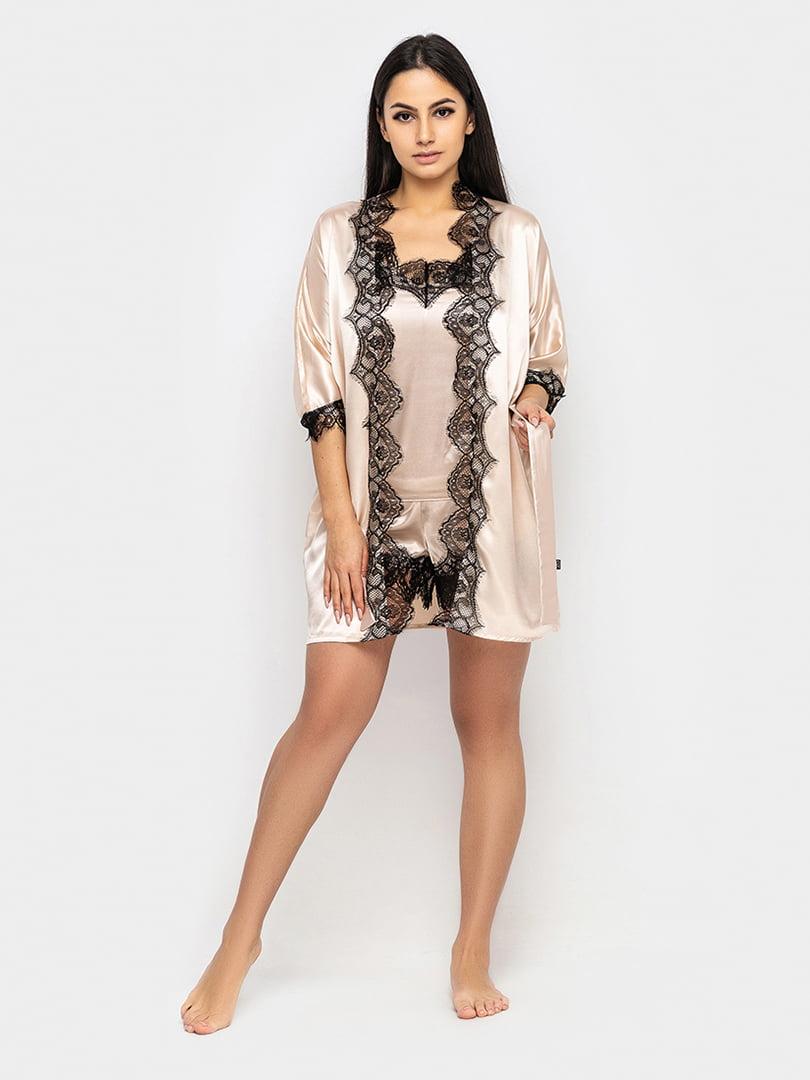 Піжама: халат, майка і шорти | 5419704