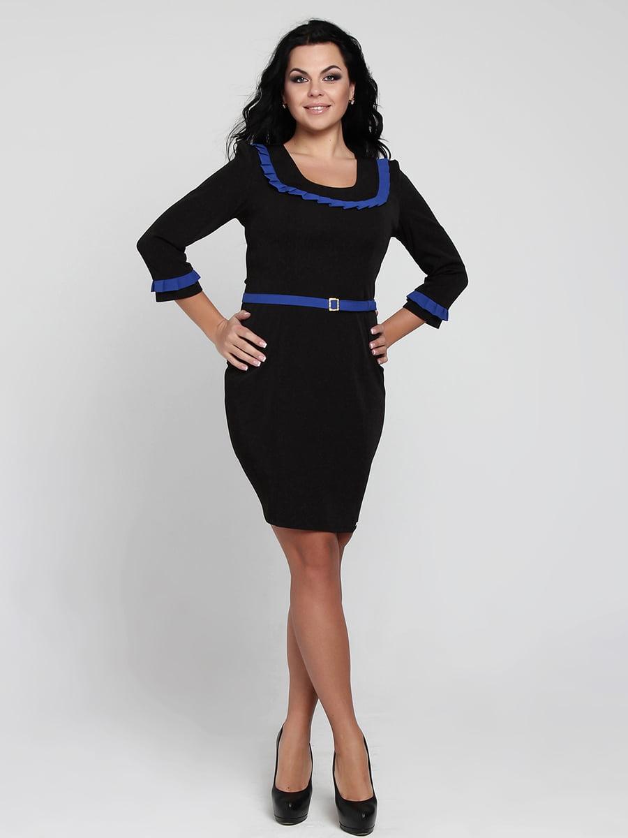 Платье черно-синее   5419728