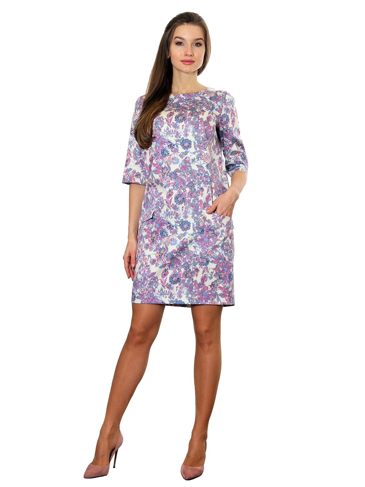 Платье сиреневое с принтом | 5419763