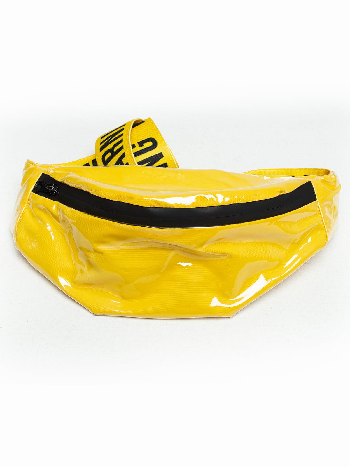 Сумка жовта з принтом | 5421515