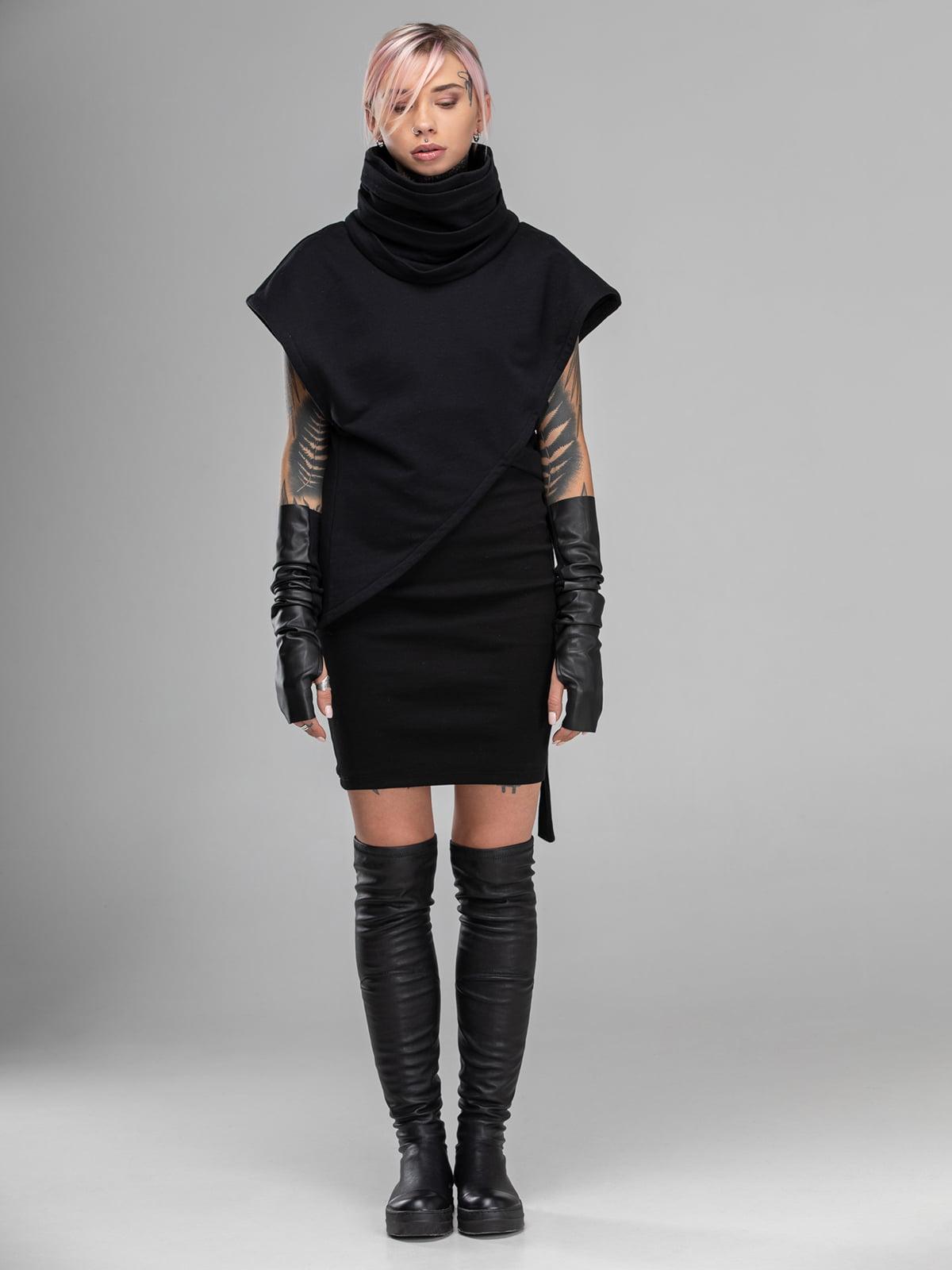 Сукня-плащ чорна | 5422951