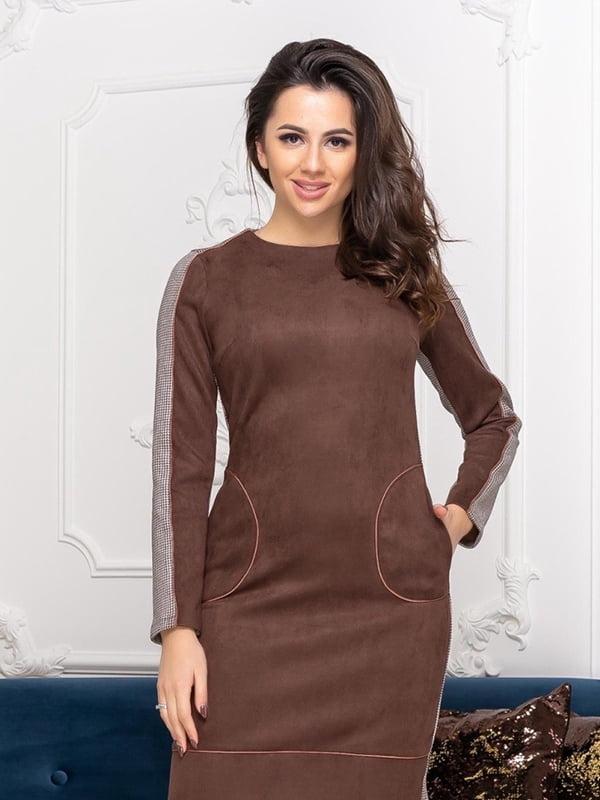 Сукня шоколадного кольору | 5423608