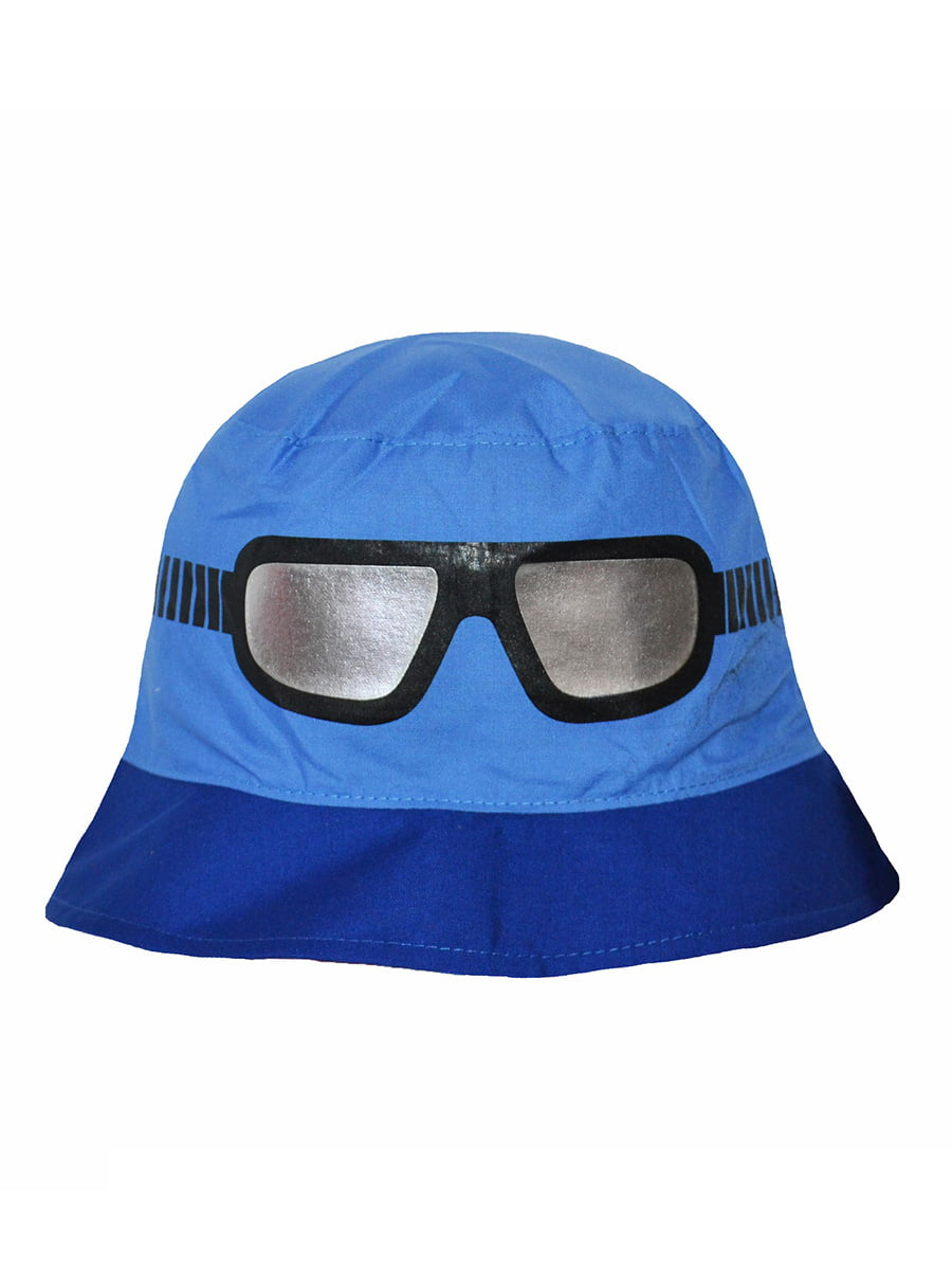 Панама сине-голубая с принтом | 5424147