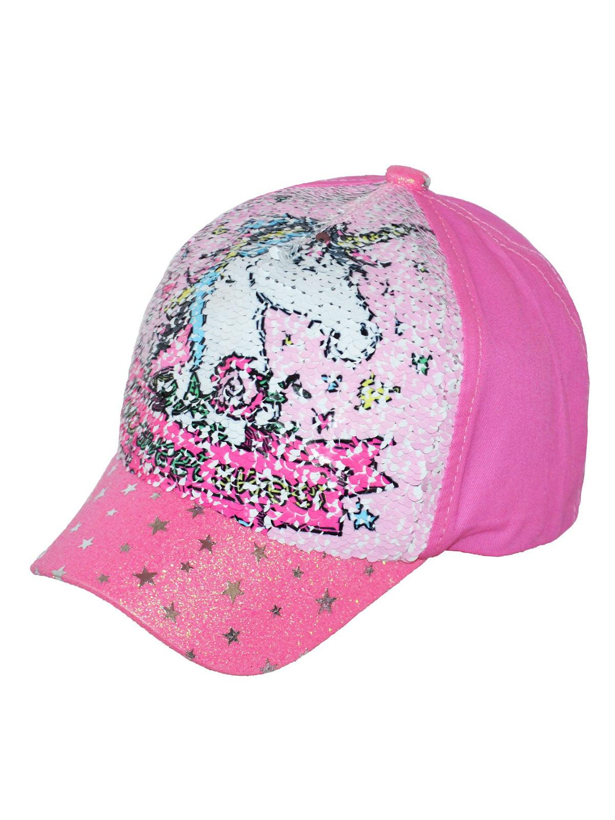 Кепка рожева з принтом | 5424211