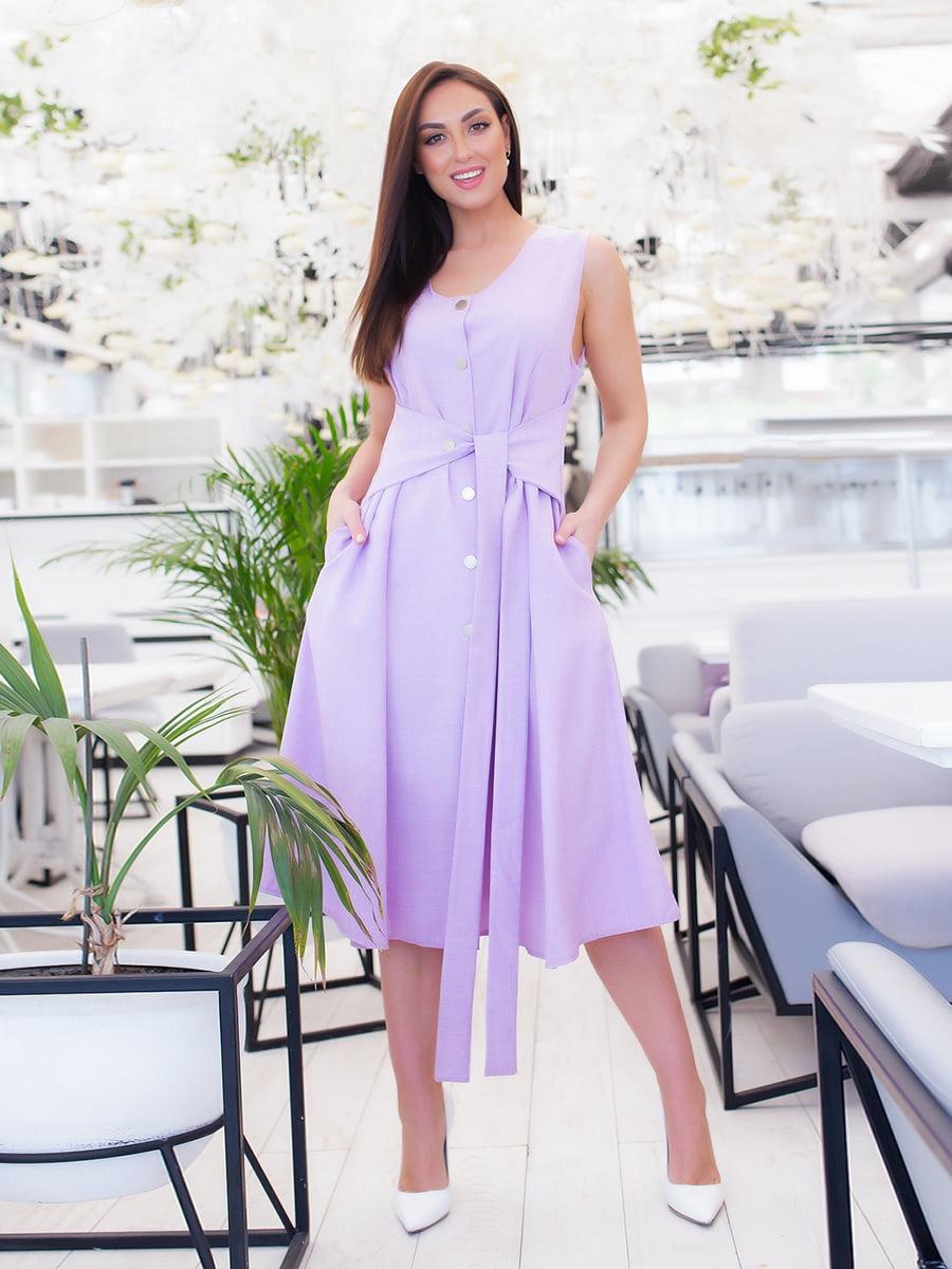 Платье сиреневое | 5379591