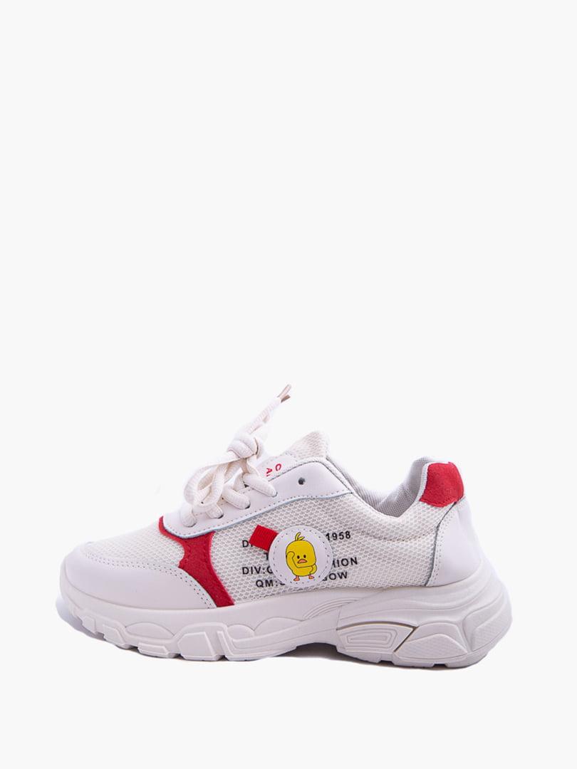 Кроссовки бело-красные | 5426917