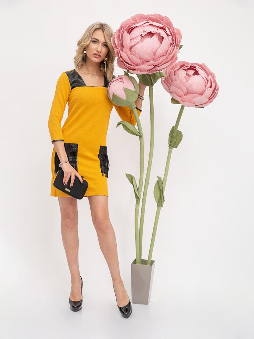 Платье горчичного цвета | 5426927