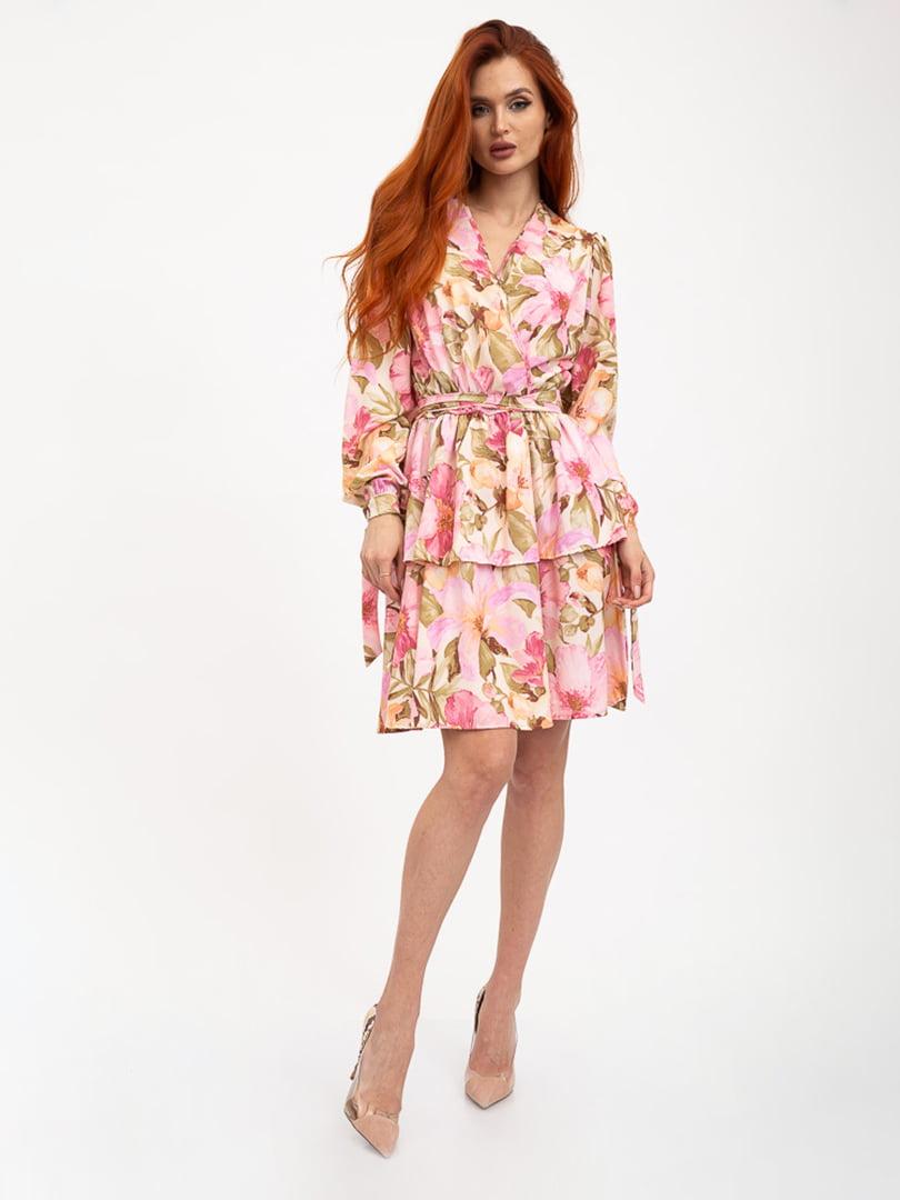 Платье в цветочный принт | 5426935