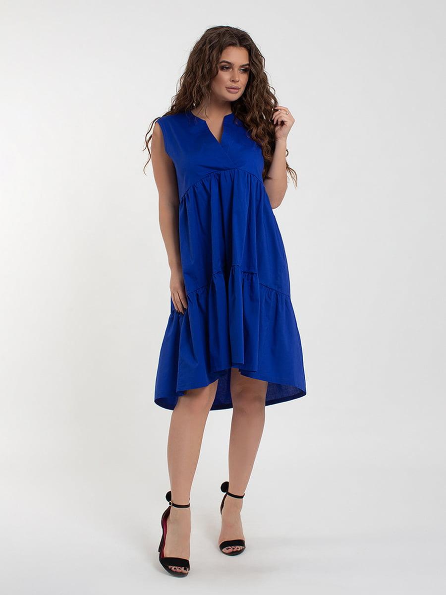 Сукня кольору електрик | 5430948
