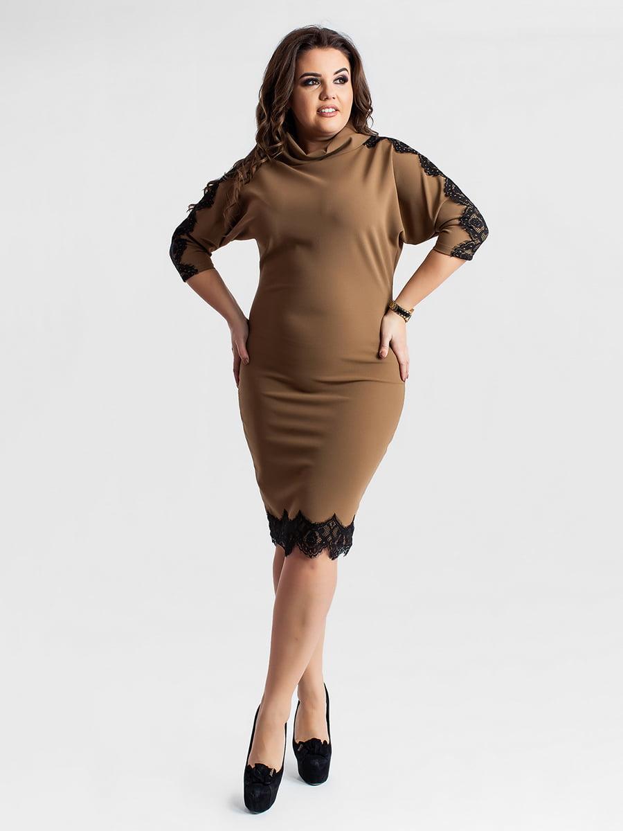 Платье бежевое | 5430957