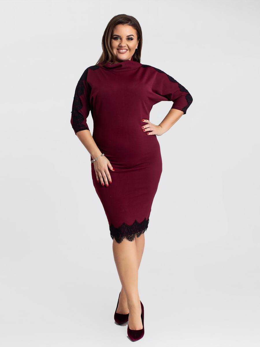 Платье цвета марсала | 5430958