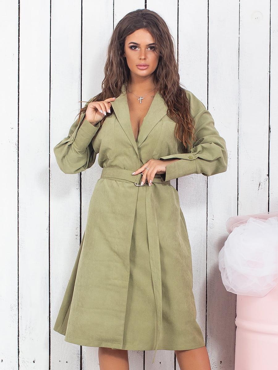 Сукня оливкового кольору | 5430960