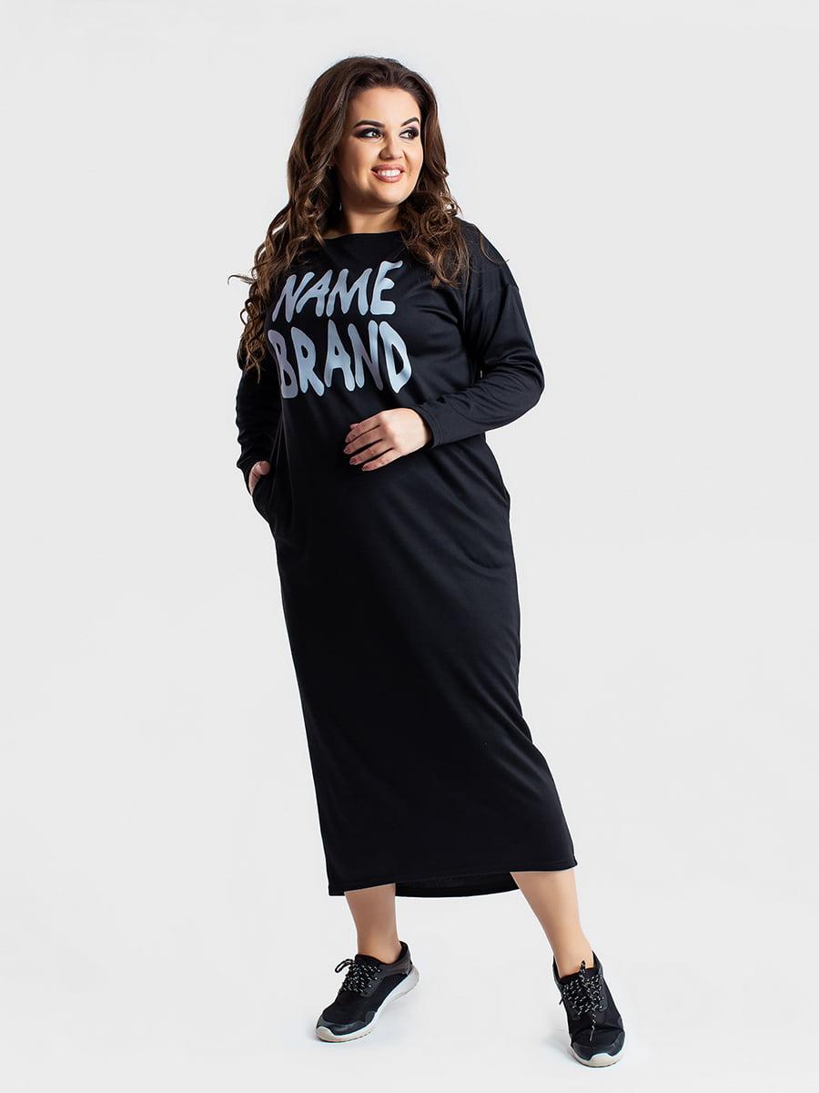 Платье черное в принт   5430962