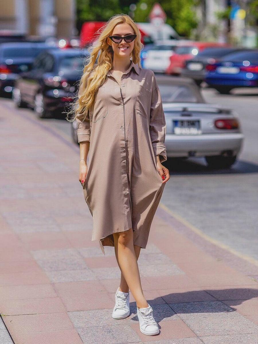 Платье бежевое | 5430964
