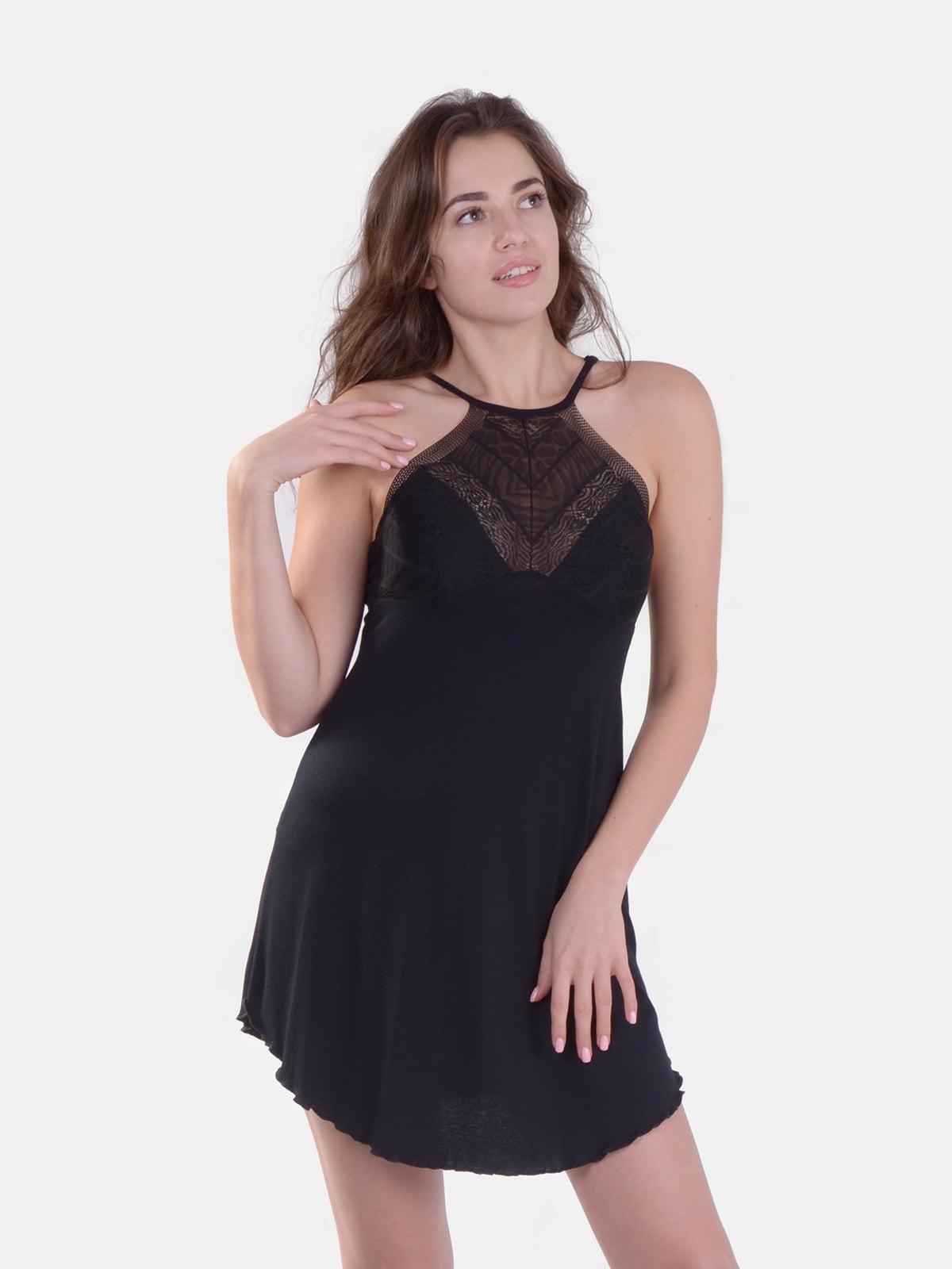 Сорочка нічна чорна | 5431214