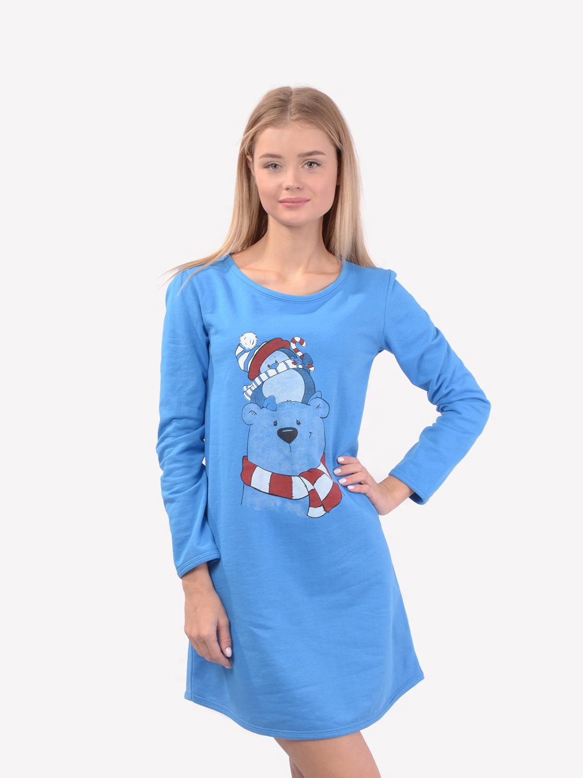 Сорочка нічна синя | 5431240